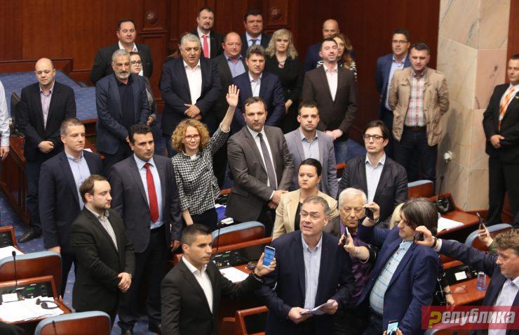 """Ништо не се сеќаваат: Пратениците од СДСМ со колективна амнезија за """"27 април"""""""