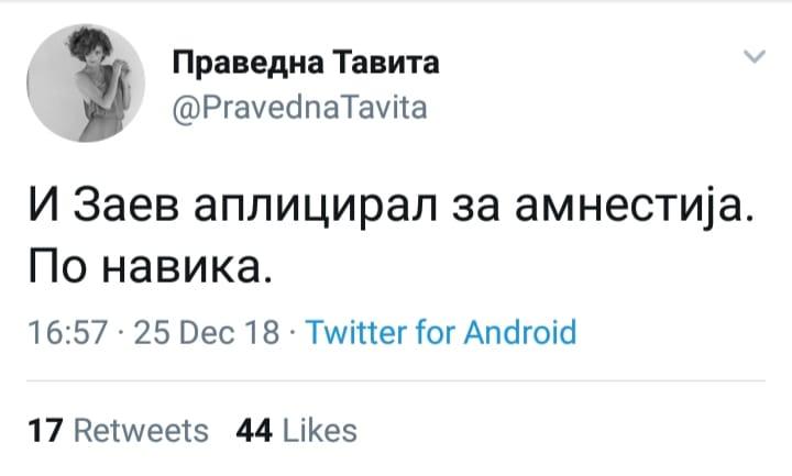 И Заев побарал амнестија