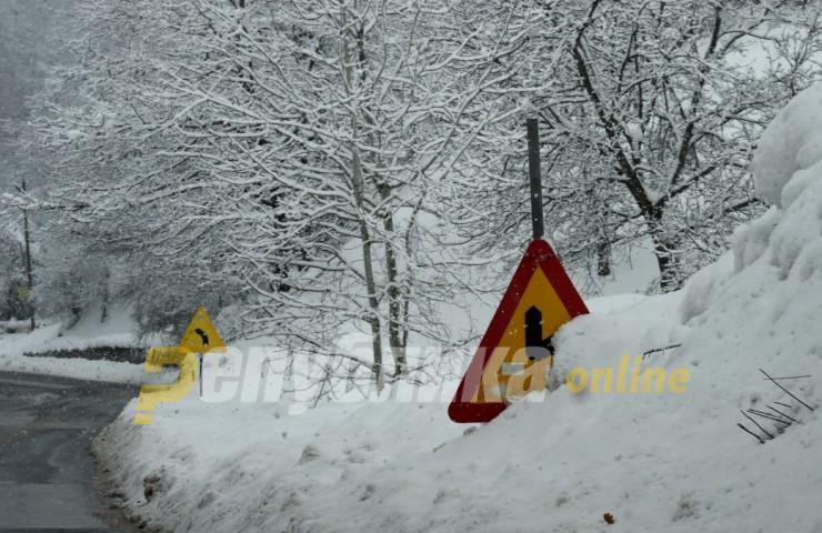 Вее снег на Попова Шапка, Маврово и во Крушево