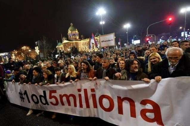 """,,1 од 5 милиони"""", протести во Србија"""