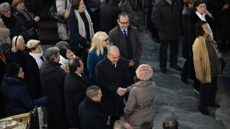 Анѓушев, Тевдовски, Дескоска на света божествена литургија во Соборна