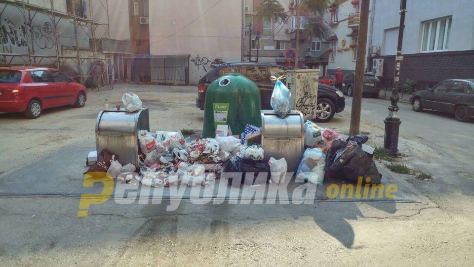 """Викендов нема да се празнат контејнерите за ѓубре: """"Комунална хигиена"""" нема дозволи за движење"""
