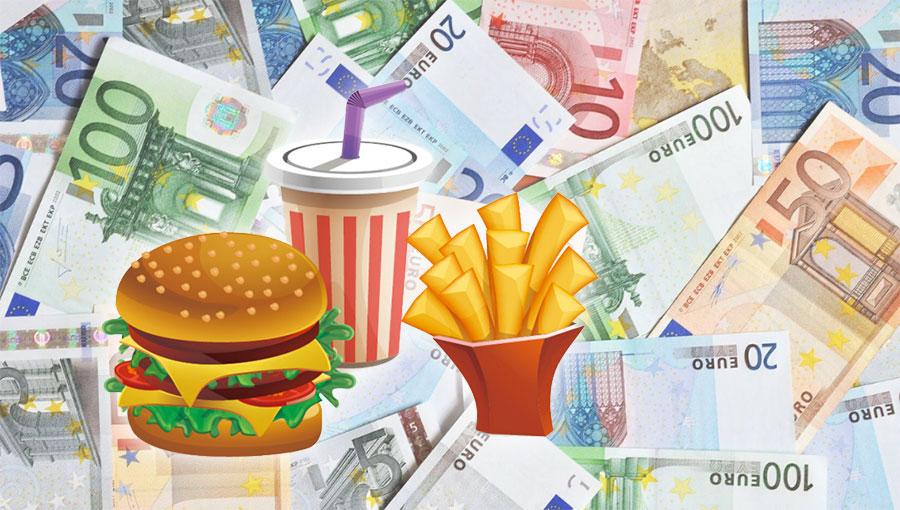 Хамбургер, 500 евра
