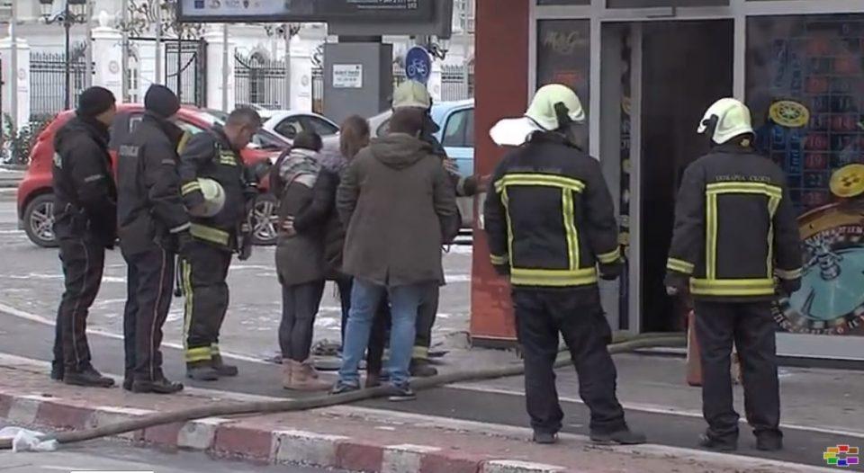 """Пожар во казиното """"Сенатор"""" во Центар"""