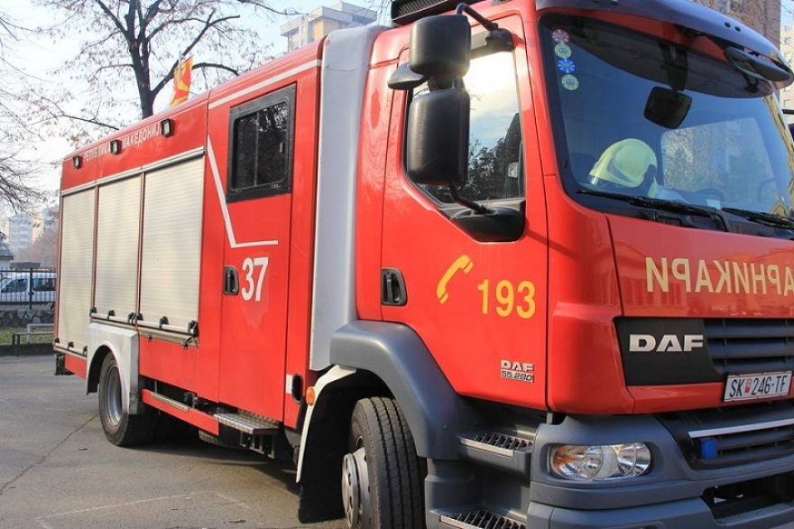 Пожар во фирма во Скопје