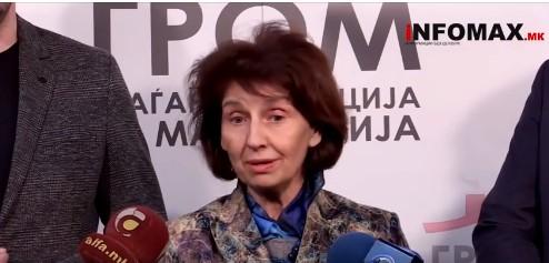Силјановска: На Македонија и треба демократски гром во овој момент, благодарам за поддршката на ГРОМ!