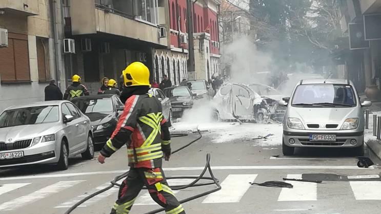 Силна експлозија во Подгорица, едно лице во критична состојба