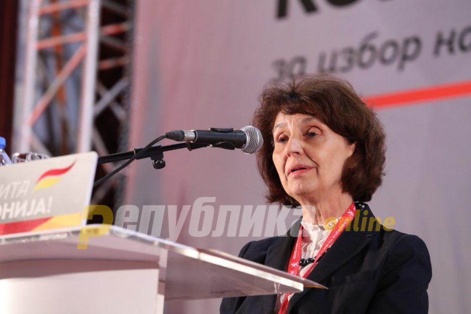 Поднесена кандидатурата на Силјановска Давкова за претседател на Македонија