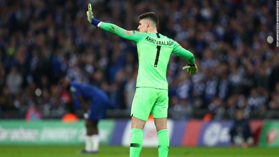 """Челси го казни Кепа заради инцидентот во финалето на """"Карабао Купот"""""""