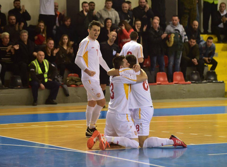 Футсал: Македонија ја победи Албанија за прво место на турнирот во Скопје