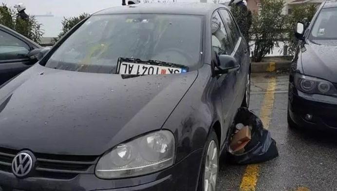 Македонски автомобил оштетен во Солун