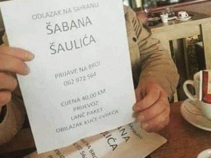 """Смртта на Шабан, шанса за заработка: За 20 евра се нуди """"тура"""" на погребот на Шаулиќ"""