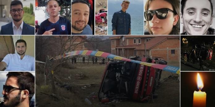 Слава им! Познати имињата на сите 14 загинати во автобуската несреќа