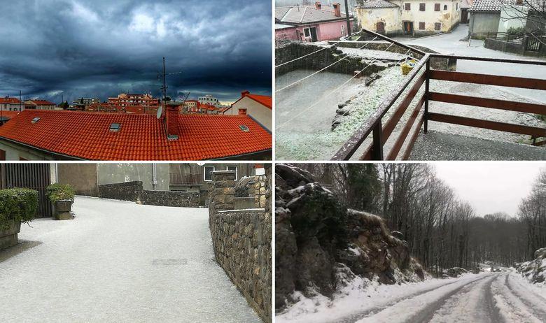 Бура со грмотевици ја зафати Хрватска: Драматични слики од Истра и Далмација