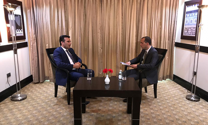 """Заев за """"Топ чанел"""": Некој во земјата, кој не е наш или албански државјанин, му помогна на Груевски"""