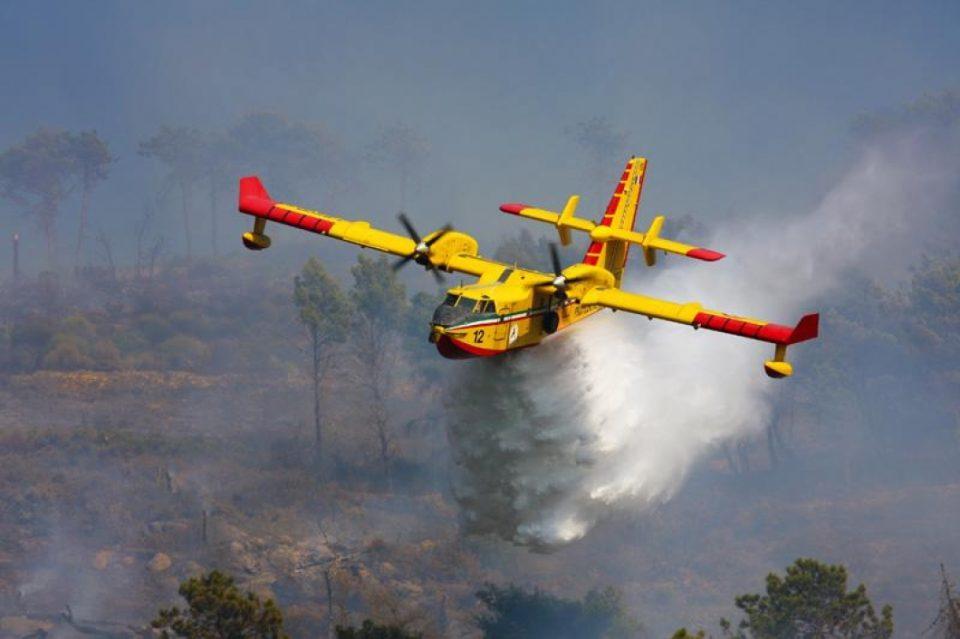 Со два авиони на ДЗС се гаснеше пожарот на Скопска Црна Гора