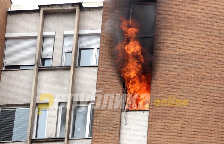 Неисправна плинска боца причина за пожар во два стана во Охрид