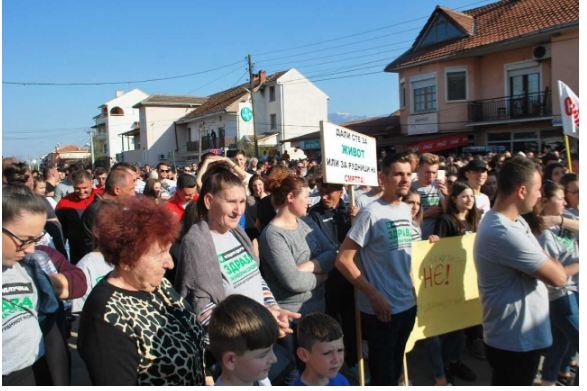 Жителите на Шутка и Иловица се кренаа на протест против отварање рудник