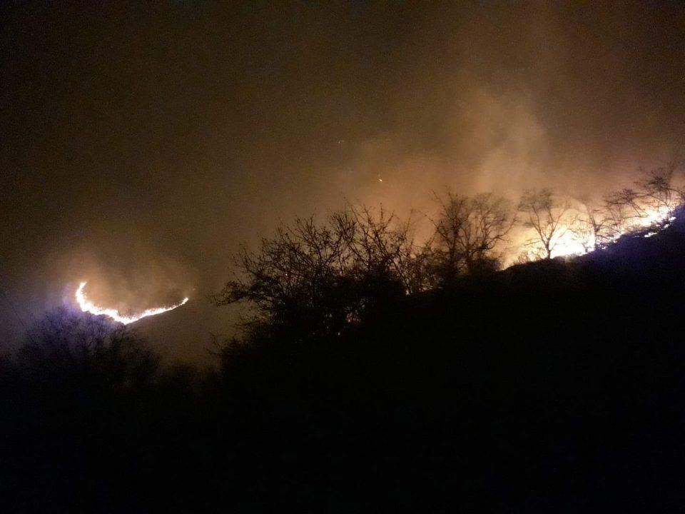 Пожарот зафати и куќи, жителите бегаат пред огнената стихија