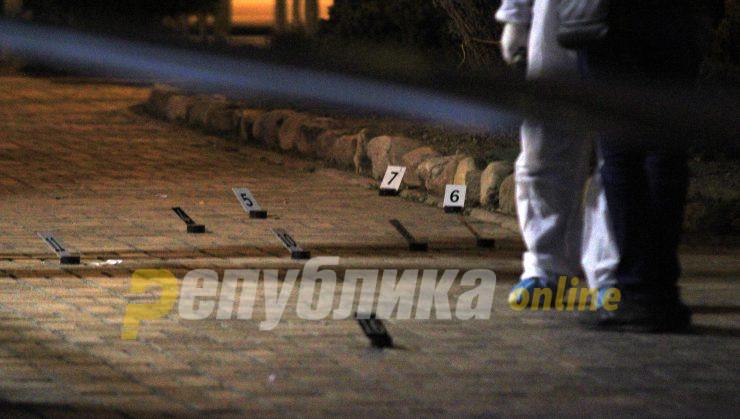 Пукање во Скопје, ранет полицаец