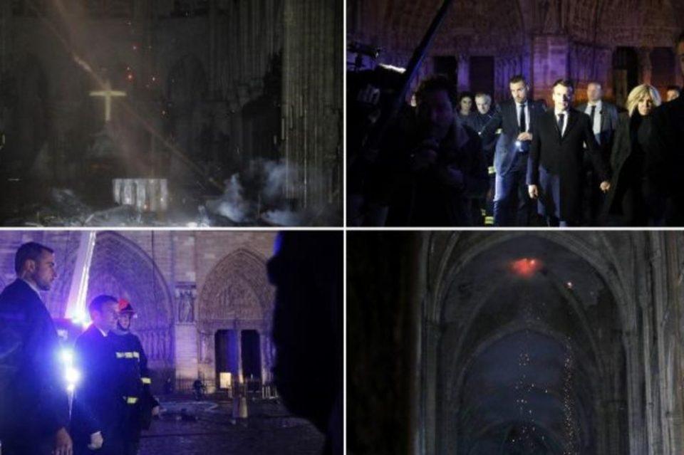 """Сцени како од """"Пеколот"""" на Данте: Први фотографии од уништениот Норт Дам"""
