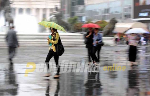 Најмногу дожд во Дојран, можни врнежи и денеска