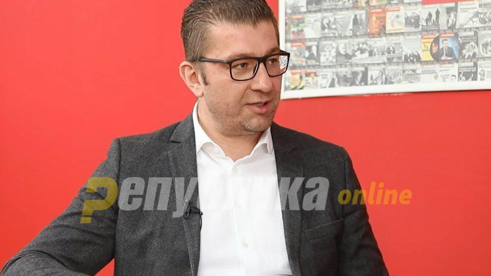 Мицкоски му порача на Заев: Со помош на народот ќе те решам на избори