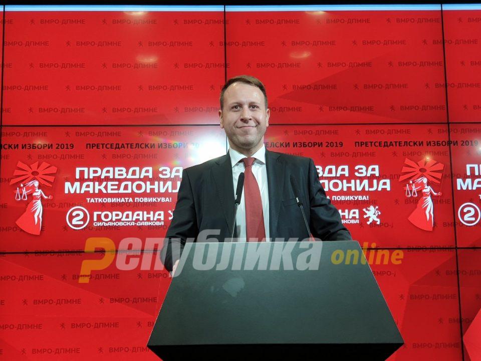 Јанушев: ВМРО ДПМНЕ победи во 47 општини, ВМРО ДПМНЕ би освоила 53 пратеници, СДСМ 41