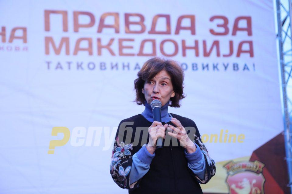 Силјановска со порака од Македнски Брод: Да победиме на изборите и да ги испратиме на незаслужен одмор!