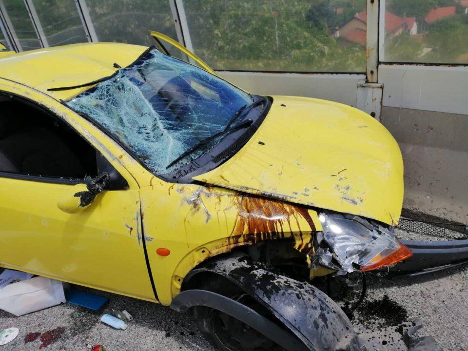 Сообраќајка на скопската обиколница – повредени жена и деца