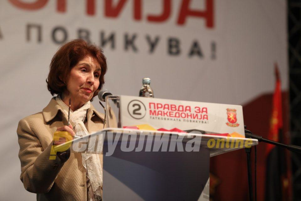 Силјановска: Заев го прекрши Законот за грбот, знамето и химната