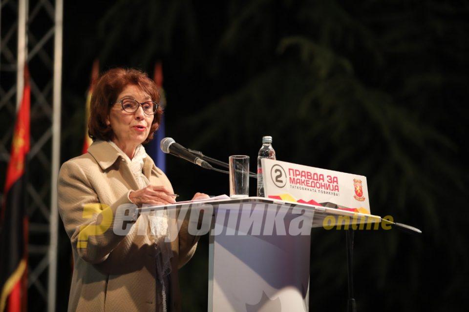 Нема логика бојкотот на претседателските избори, излезете и гласајте, порача Силјановска Давкова