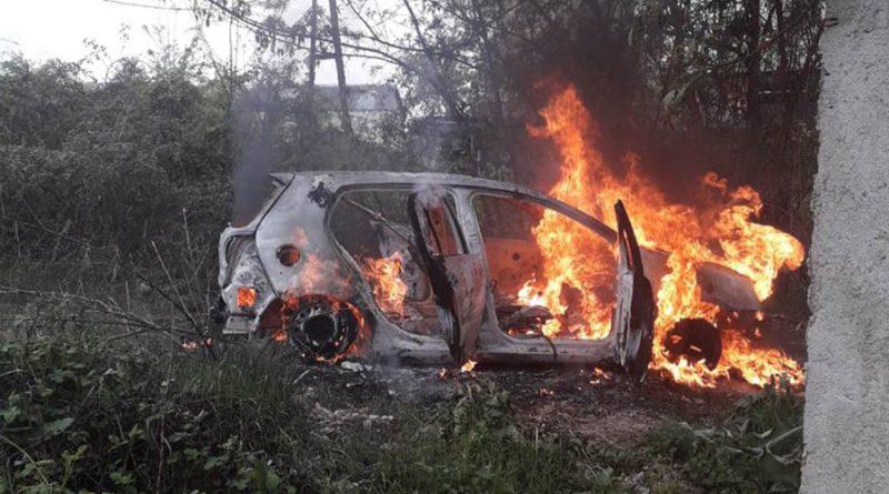 """Запален """"голф-5"""" кај гробиштата во Бутел, го возеле ограбувачите на """"НЛБ банка""""?"""