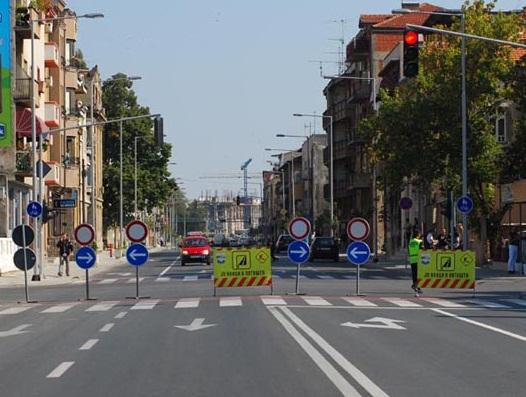 Утре ќе биде затворен дел од булеварот Илинден