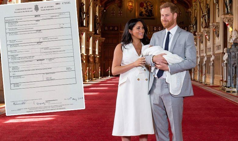 Интересни детали се објавени во Изводот од родените на британското кралско бебе