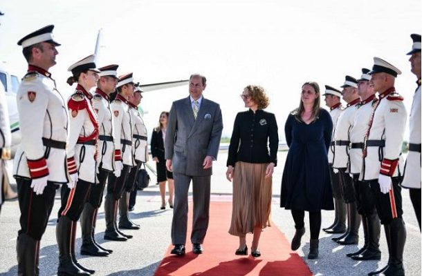 Принцот Едвард на средба со претседателот Пендаровски