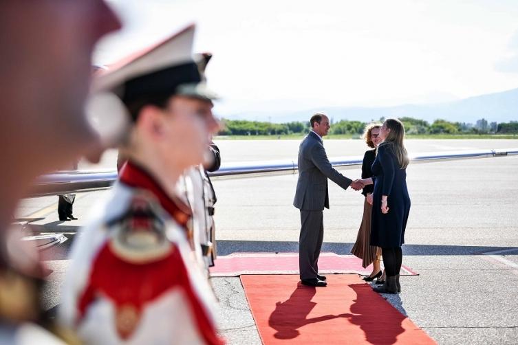 Принцот Едвард пристигна во Македонија