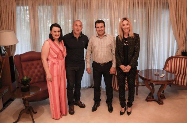 Харадинај: На гости кај премиерот Зоран Заев и госпоѓа Зорица