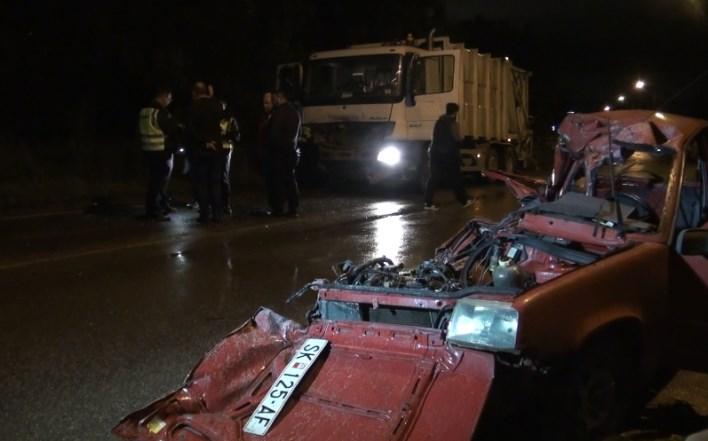 Вознемирувачко видео од сообраќајката во Драчево во која загинаа 5 лица