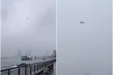Хеликоптерот пред да удри во зграда во Менхетн изгубил контрола и изчезнал во магла