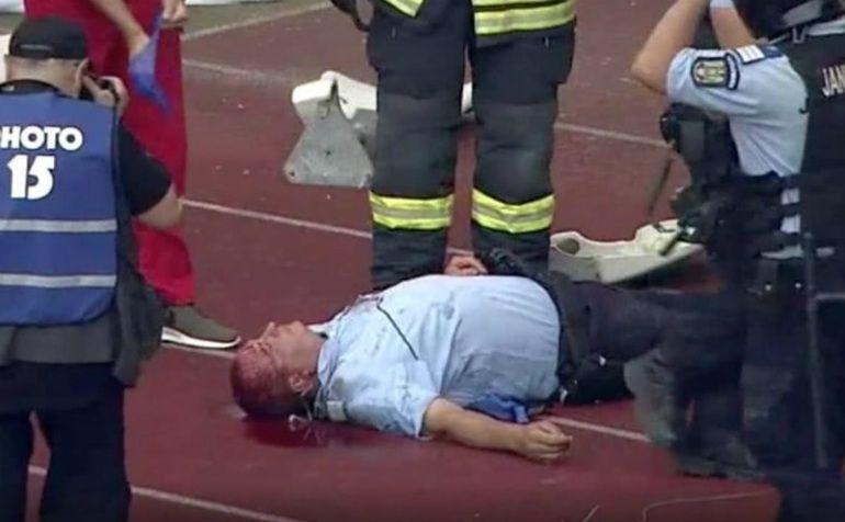 Во Романија голем инцидент: Полицаец погоден со камен, облиен во крв остана без свест