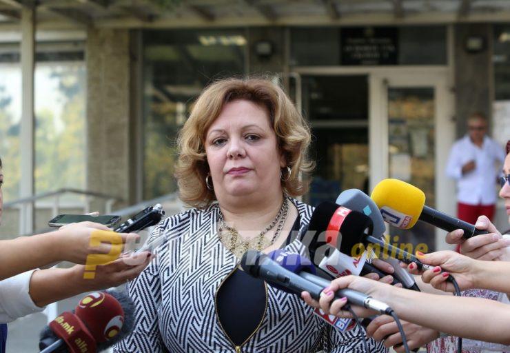 Катица Јанева ќе дава изјава во 13 часот пред СЈО