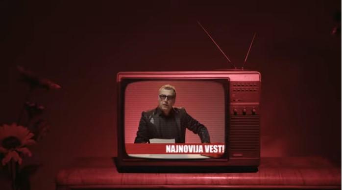 """Милена Дравиќ и Драган Николиќ во спотот на групата """"Ван Гог"""""""
