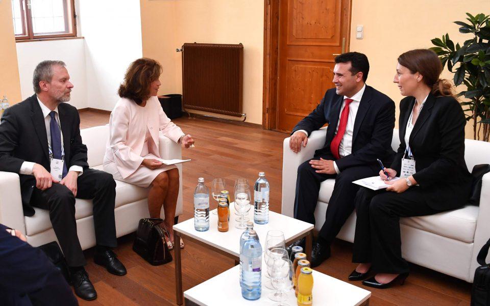 Бирлајн – Заев: Многу скоро Австрија ќе ја поздравува Македонија како членка на ЕУ