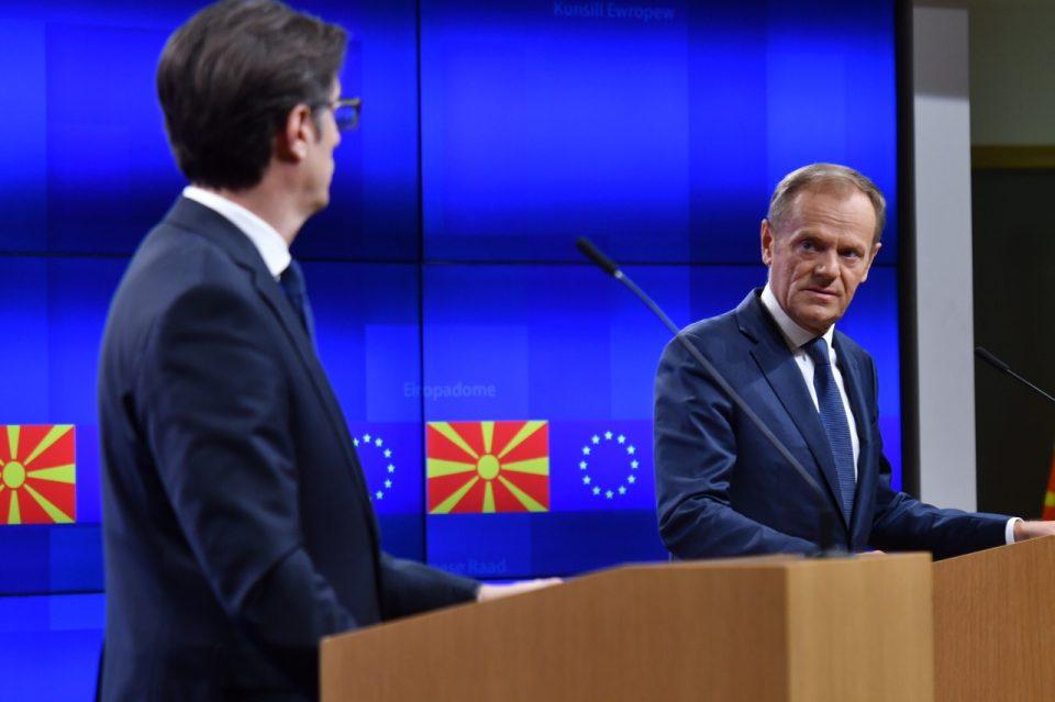 Туск во Скопје на средби со Заев и Пендаровски