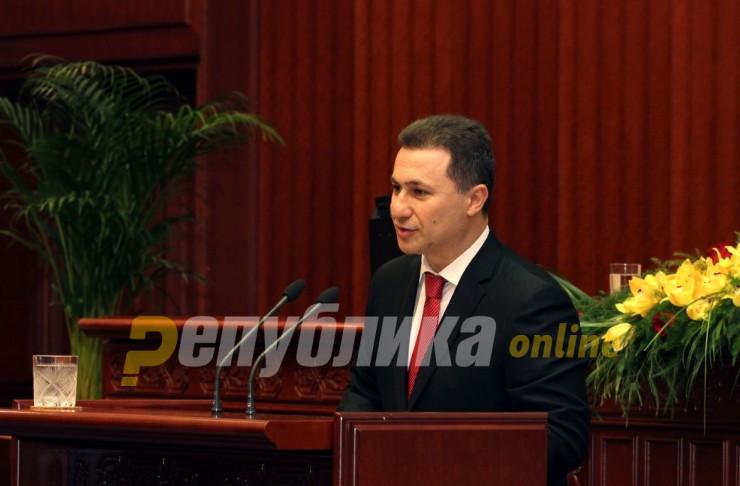 Груевски: Никогаш не сум дал инструкција да се отворат вратите на Парламентот