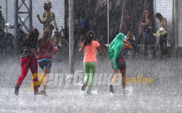 Сончево со поројни дождови во попладневните часови