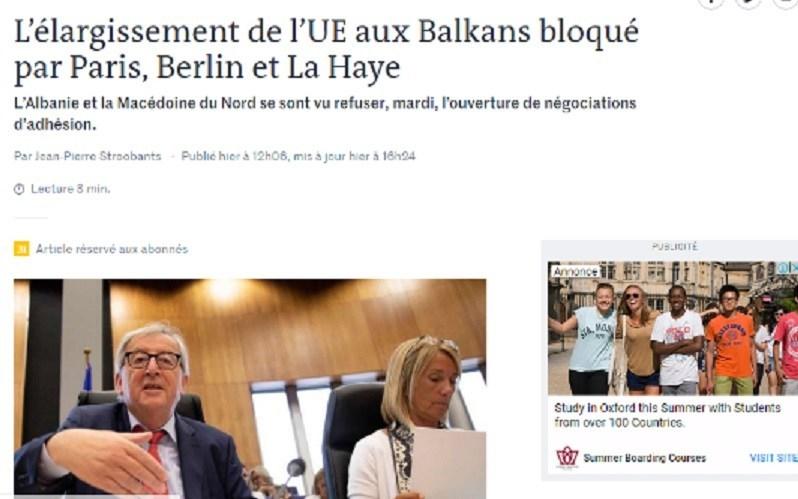 """""""Ле монд"""" објасни зошто Франција е против датум за преговори"""