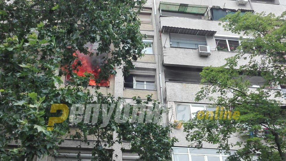 МВР: Шест станари и тројца пожарникари хоспитализирани по пожарот во Кисела Вода