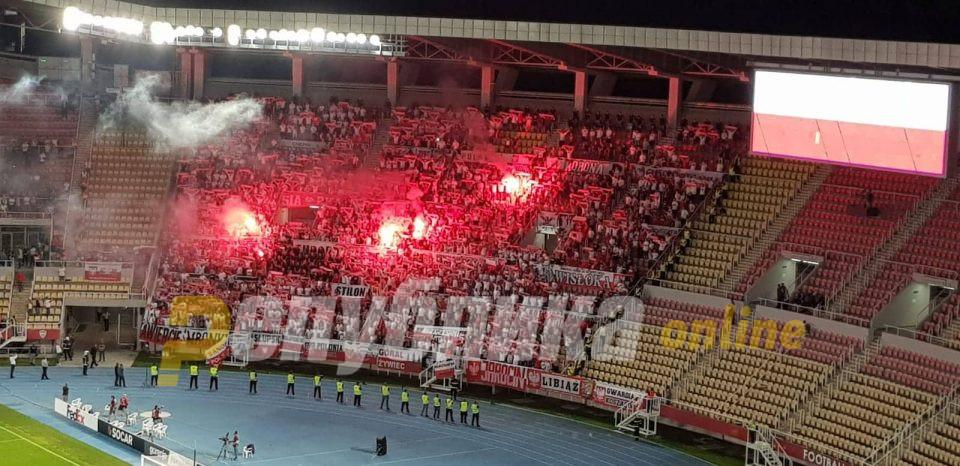 """Трибините """"горат"""": Почна натпреварот Македонија – Полска"""